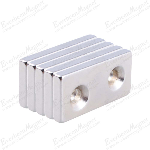block Neodymium magnet with screw hole