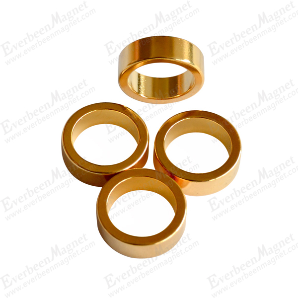 golden coated ring NdFeB Magnet